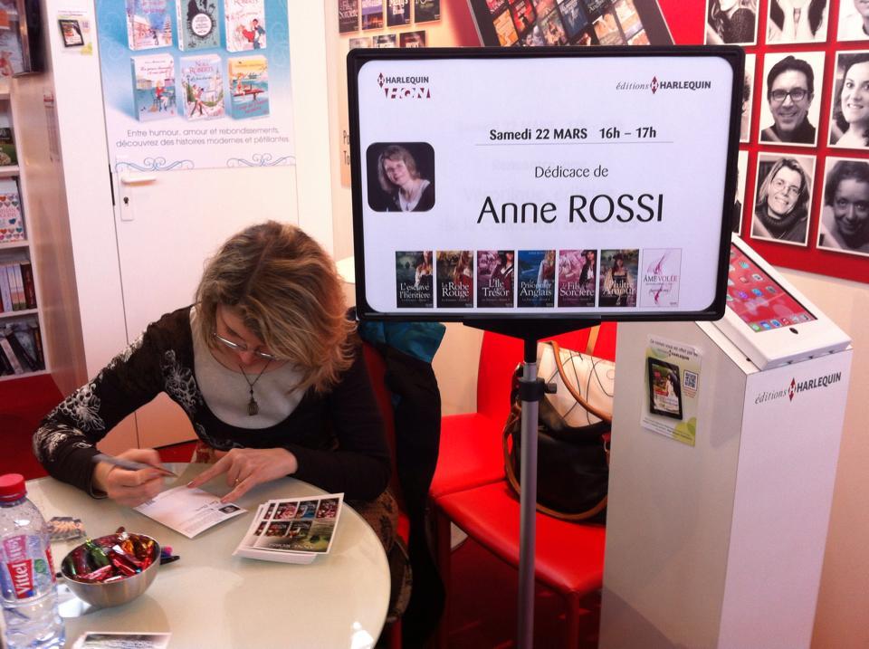 Dédicace d'Anne Rossi