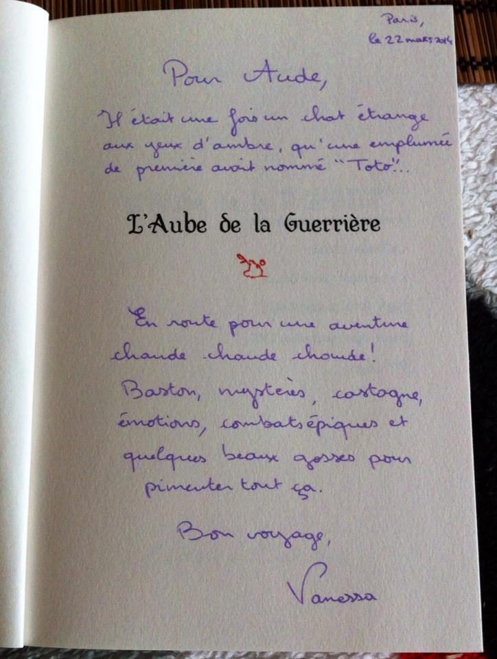 Dédicace de Vanessa Terral et achat du livre
