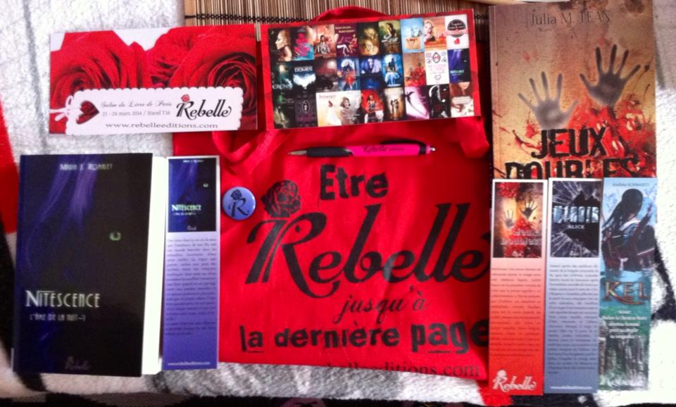 Les goodies chez Rebelle Editions