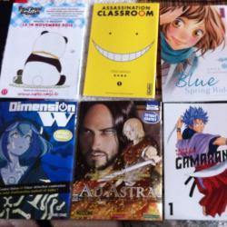 Quelques extraits de mangas offerts dans les stands dédiés