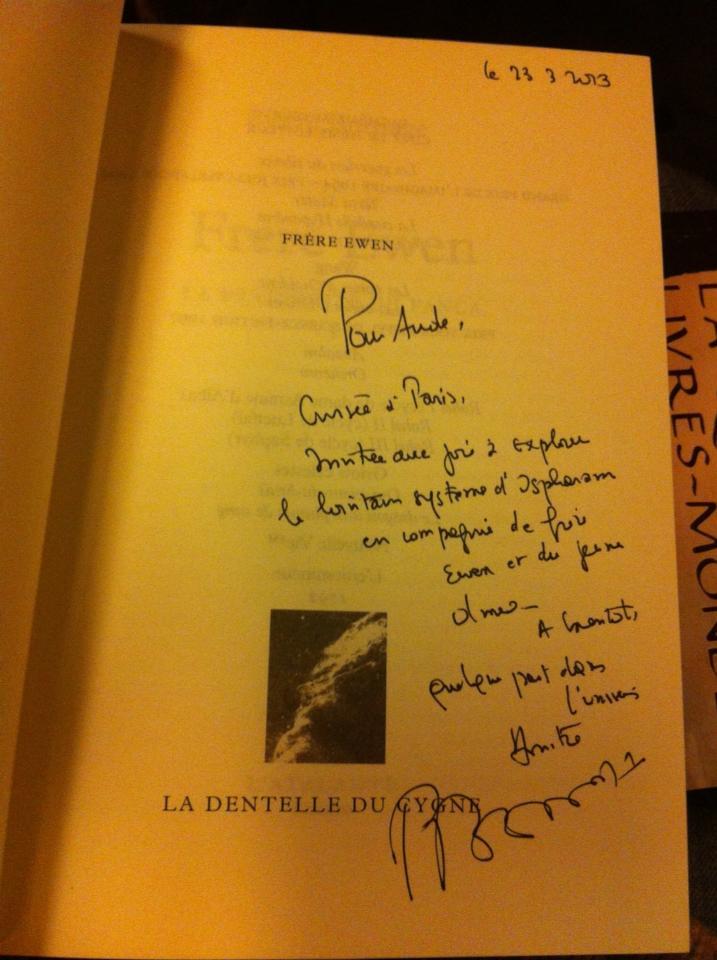 Dédicace de Pierre Bordage