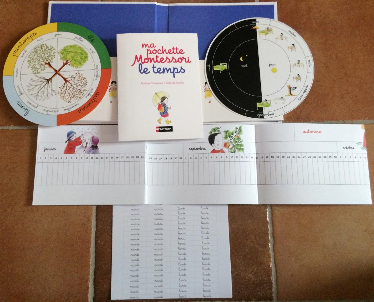 Ma pochette Montessori le temps extrait