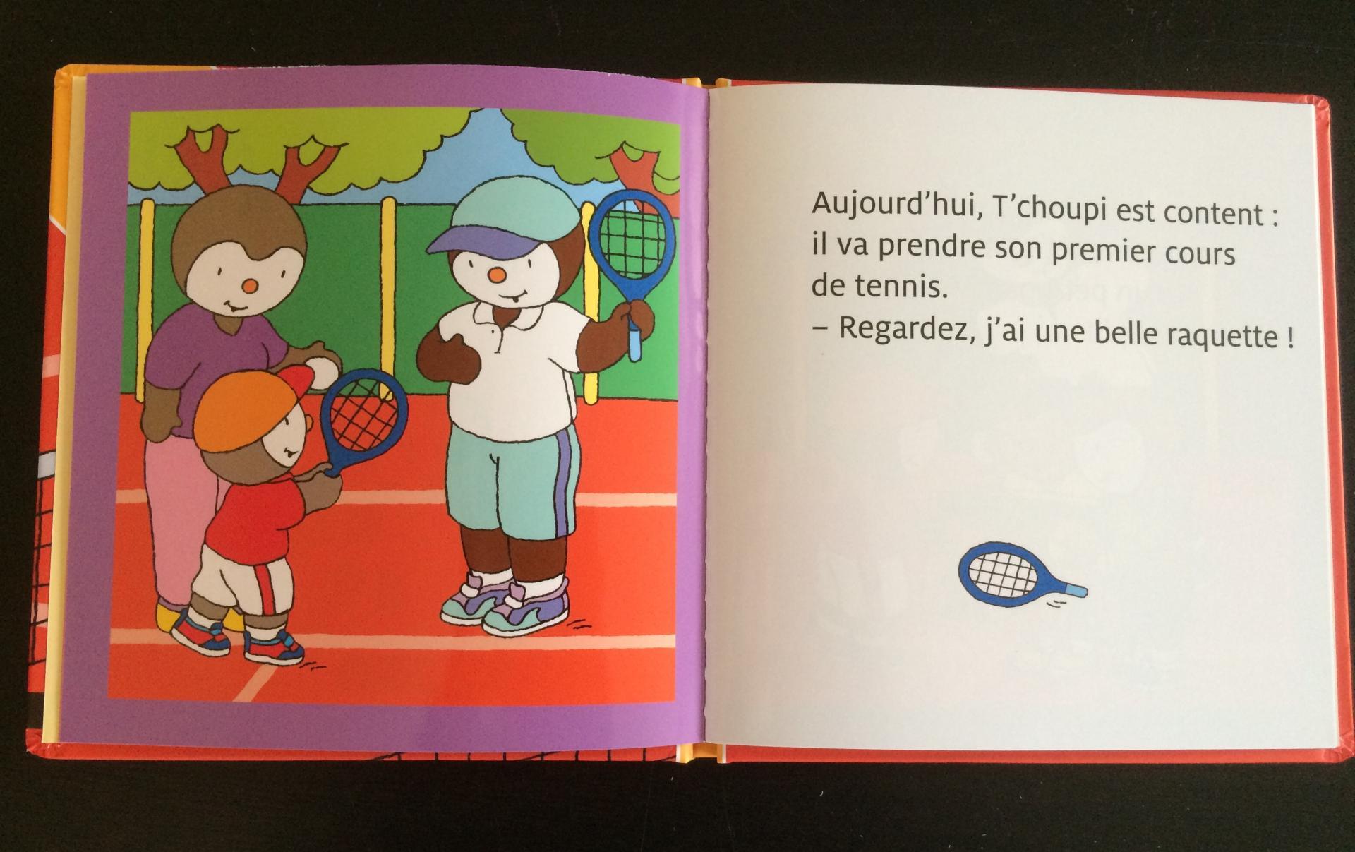T'croupi fait du tennis